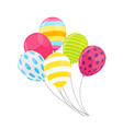 simple holiday balloon isolated on white vector image