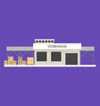 small storehouse building vector image