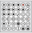 sound buttons audio player icons vector image