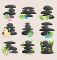 spa stones isolated and relaxation isolated vector image vector image