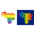 spectrum pixel dotted venezuela map vector image