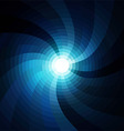 the sun in blue sky vector image