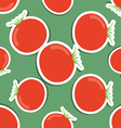 tomato pattern Seamless texture with ripe red vector image vector image