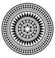 tribal polynesian mandala design geometric vector image vector image