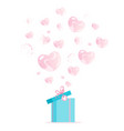 valentines day blue gift box vector image