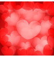 valentines red hearts background vector image vector image