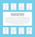 website banner and landing page transport vector image vector image