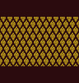 yellow and brown damask pattern royal oriental vector image vector image