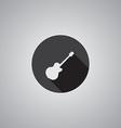 Guitar symbol flat vector image