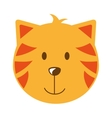 cat head isolated icon design vector image