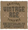 vintage label typeface named vintage age vector image