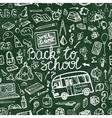 Back to School Supplies Sketchy chalkboard vector image