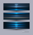 abstract blue red and black metallic with light vector image