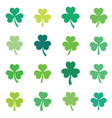 abstract green clover leaves set isolated vector image vector image