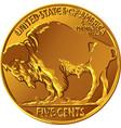 american buffalo gold coin vector image vector image