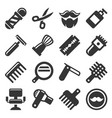 barber shop icons set vector image vector image