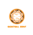 basketball donut negative space concept vector image