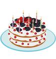 Birthday Cake - vector image vector image