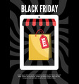 black friday electronic commerce design vector image vector image