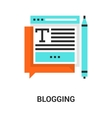 blogging icon concept vector image vector image