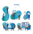 business growth coaching scenes collection vector image