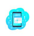 calendar schedule app on smartphone icon vector image