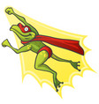 cartoon frog superhero vector image vector image