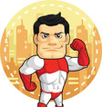Cartoon of Superhero vector image vector image