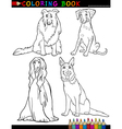 Cartoon purebred Dogs Coloring Page vector image vector image