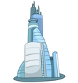Cartoon skyscraper vector image