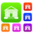 colonnade set collection vector image vector image
