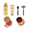 cosmetics make up vector image