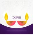 creative diwali celebration poster festival vector image vector image