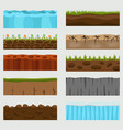 cross section ground slice vector image vector image