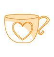 cute tea cup icon vector image