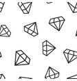 diamond jewel gem icon seamless pattern vector image