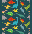 dinosaur seamless pattern cute kids dinosaurs vector image vector image