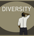 diversity problem concept black business man vector image