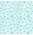 Doodle aquamarine flowers on transparent vector image vector image