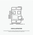 drag mobile design ui ux icon line gray symbol vector image