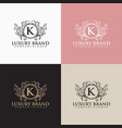 elegant luxury logo template vector image