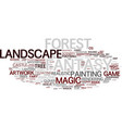 fantasy word cloud concept vector image vector image