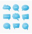 flat design speech bubble vector image