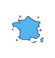 france icon design vector image vector image