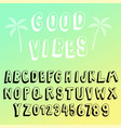 fun 3d transparency font collection vector image vector image