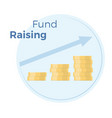 fundraising flat income vector image vector image