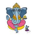 ganapati meditation in lotus pose vector image vector image