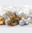 glittery christmas text on a defocussed background vector image vector image