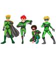 Green heroes vector image vector image