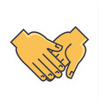 Hand holding anything concept line icon vector image